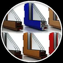 Многообразие цвета Мы изготавливаем окна практически любого цвета и оттенка: с имитацией различных пород дерева, темных и светлых цветов, сочных и спокойных оттенков.